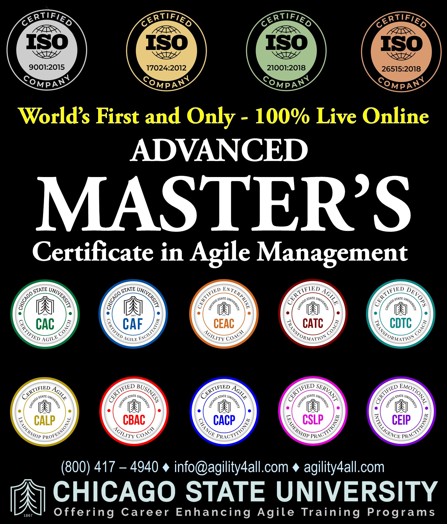 Advanced Master's Certificate in Agile Management (AMCAM)