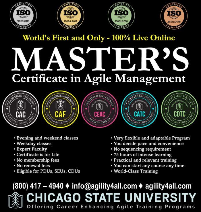 Master's Certificate in Agile Management (MCAM)
